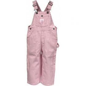 Toddler Bib Overalls Pink Stripe