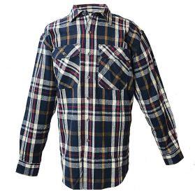 Five Brother Men's Heavyweight Regular Fit Flannel Shirt, Big, 5200 PL-1A, Blue
