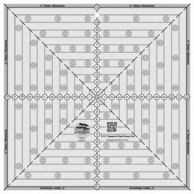 Creative Grids 12  x 12  Square It Up and Fussy Cut Ruler CGRSQ12