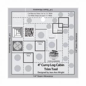 Creative Grids 4in Curvy Log Cabin Trim Tool CGRJAW6MINI