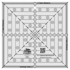 """Creative Grids® 8 ½"""" x 8 ½"""" Square It Up and Fussy Cut Ruler, CGRSQ8"""
