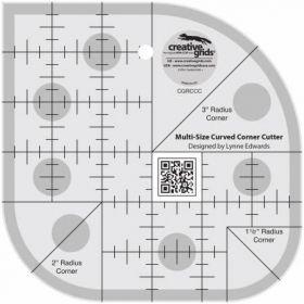 Creative Grids® Curved Corner Cutter Ruler, CGRCCC