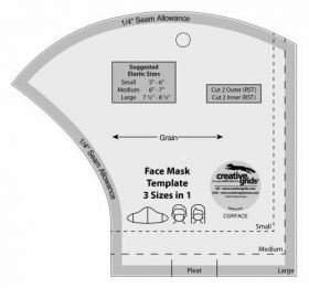 Creative Grids Face Mask Template 3 Sizes in 1 CGRFACE