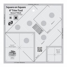 """Creative Grids® Square on Square Trim Tool - 4"""" or 8"""" Finished, CGRJAW8"""