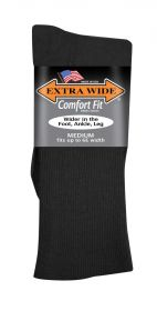 Extra Wide  Dress Sock 2701 Black M
