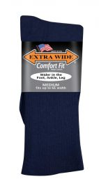 Extra Wide  Dress Sock 2702 Navy M