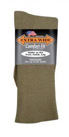 Extra Wide  Dress Sock 2703 Tan M