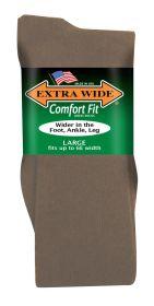 Extra Wide  Dress Sock 3803 Tan L
