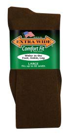 Extra Wide  Dress Sock 3804 Brown L