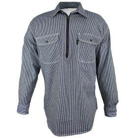 Five Brother Hickory Half Zip Logger Shirt 590847