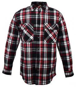 Five Brother Mens Heavyweight Regular Fit Flannel Shirt 5200 PL-1B Black