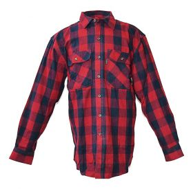 Five Brother Mens Heavyweight Regular Fit Flannel Shirt 5200 PL-5A RedNavy