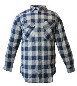 Five Brother Mens Heavyweight Regular Fit Flannel Shirt 5200 PL-5B NavyGrey