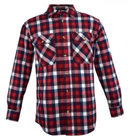 Five Brother Mens Heavyweight Regular Fit Flannel Shirt 5200 PL-7A Americana
