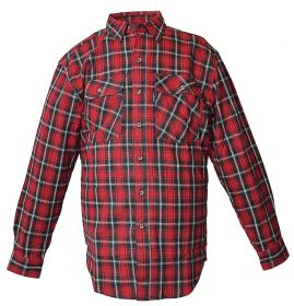 Five Brother Mens Heavyweight Regular Fit Flannel Shirt Red 5200 PL-2B