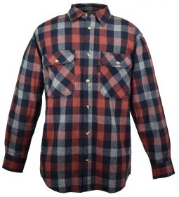 Five Brother Mens Heavyweight Regular Fit Flannel Shirt XL 5200 PL-3A Copper