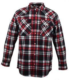 Five Brother Mens Heavyweight Regular Fit Western Flannel Shirt Black 5201 PL-1B