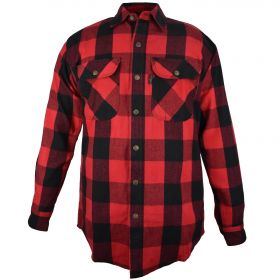 Fivebrother Metal Snap Front Flannel Shirt 5901B PL-4 A  RedBlack