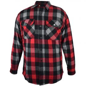 Fivebrother Metal Snap Front Flannel Shirt 5901T PL-1 A  RedGrey