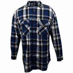 Fivebrother Metal Snap Front Flannel Shirt 5901T PL-7 B  BlackBlue