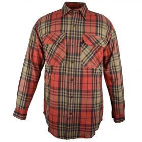 Fivebrother Metal Snap Front Flannel Shirt 5901T PL-8 A  Bittersweet
