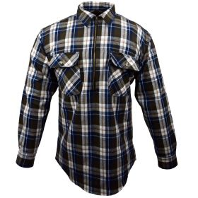 Fivebrother  Zip Front Logger Flannel  Shirt 5900T PL-3 B  Brown