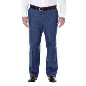Haggar Big  Tall Classic Fit 41714422498-56X Lt Stonewash