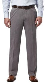 Haggar Premium Classic Fit Flat Front No Iron Pant HC00237-14 Charcoal Heather-1