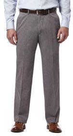 Haggar Premium Classic Fit Flat Front No Iron Pant HC00237-14 Charcoal Heather