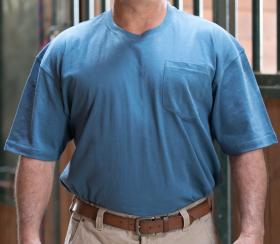 Key Blended Pocket T-Shirt 822403 Midnight Blue