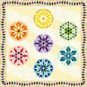 NEW Candy Coated Snowflakes Wall Kit - Multicolored