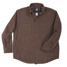 Polar King Flannel Lined Shirt Jac 55427 Bark