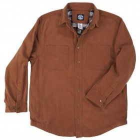 Polar King Flannel Lined Shirt Jac 55428 Saddle