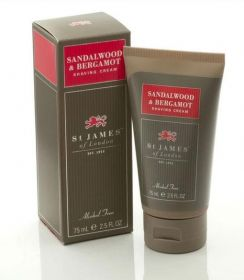 St James of London Sandalwood  Bergamot Shave Cream Travel Tube