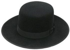 Stetson Amish Church Hat Flat Crown