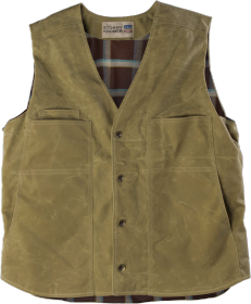 Stormy Kromer Waxed Button Vest 52530-779 Field Tan
