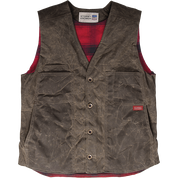 Stormy Kromer Waxed Button Vest 52530-80Z Dark Oak