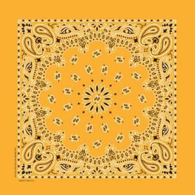 Traditional Paisley Bandanna Gold