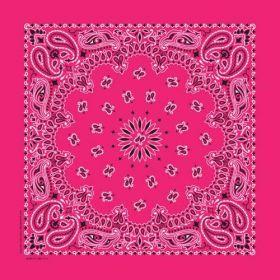 Traditional Paisley Bandanna Hot Pink