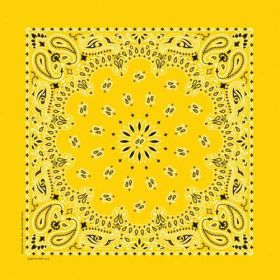 Traditional Paisley Bandanna Lemon