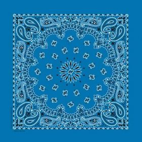 Traditional Paisley Bandanna Mirage Blue