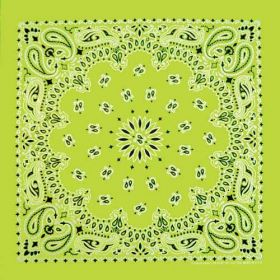 Traditional Paisley Bandanna Neon Green