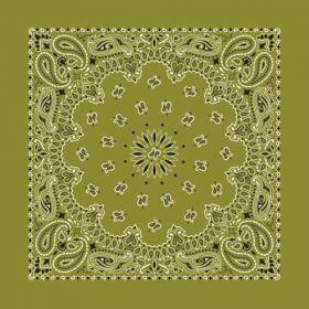 Traditional Paisley Bandanna Olive