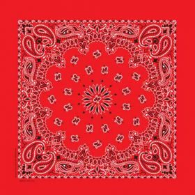 Traditional Paisley Bandanna Red