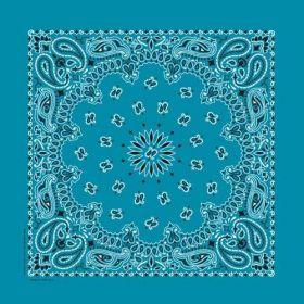 Traditional Paisley Bandanna Turquoise