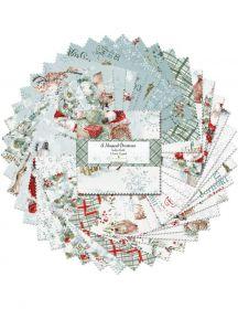 Wilmington Prints Pre-Cuts A Magicial Christmas 5 Squares 508-628-508