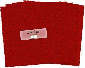 Wilmington Prints Pre-Cuts Essentialsredcarpet 10 Squares 512-32-512