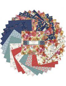 Wilmington Prints Pre-Cuts Roots of Love 10 Squares 518-657-518