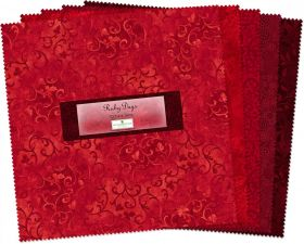 """Wilmington Prints® Pre-Cuts, Ruby Days, 10"""" Squares, 512-3-512"""