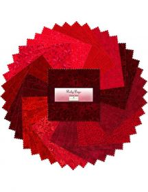 """Wilmington Prints® Pre-Cuts, Ruby Days, 5"""" Squares, 507-3-507"""